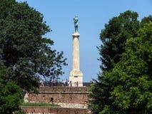 Monumento do vencedor, Belgrado, Sérvia imagem de stock