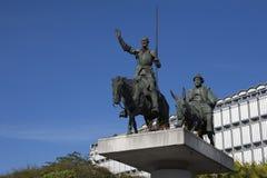 Monumento a Don Quixote y a Sancho Panse Fotos de archivo libres de regalías