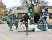 Monumento dos palhaços na cidade de Luxemburgo Imagem de Stock
