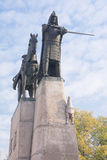 Monumento of Duke of Lithuania stock images