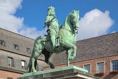 Monumento ecuestre de Jan Wellem en Düsseldorf, Alemania Fotografía de archivo