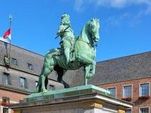 Monumento ecuestre de Jan Wellem en Düsseldorf, Alemania Imágenes de archivo libres de regalías