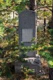 Monumento em um lugar do acampamento para prisioneiros na ilha Mudjug fotos de stock