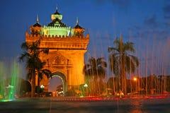 Monumento em Vientiane, Fotos de Stock Royalty Free