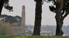 Monumento en Brest, Francia almacen de video