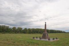 Monumento en campo de batalla de Borodino Imagenes de archivo