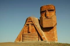 Monumento en el capital de Nagorno Karabaj, Stepa Fotos de archivo libres de regalías