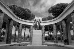 Monumento en el cementerio americano de la guerra en Nettuno Imagenes de archivo