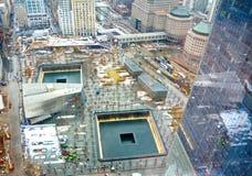 9/11 monumento en el punto cero del World Trade Center Foto de archivo