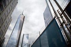 9/11 monumento en el World Trade Center, punto cero Foto de archivo libre de regalías