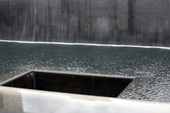 9/11 monumento en el World Trade Center, punto cero Imagenes de archivo