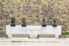 Monumento en honor de la victoria sobre fascismo cerca de la fortaleza de Belgrado en Belgrado, Serbia Imagenes de archivo
