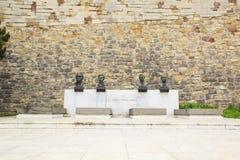 Monumento en honor de la victoria sobre fascismo cerca de la fortaleza de Belgrado en Belgrado, Serbia Imagen de archivo