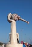 Monumento en la ciudad de Fudjairah Fotografía de archivo