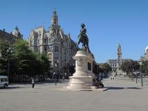 Monumento en la ciudad de Lisbonne Imágenes de archivo libres de regalías