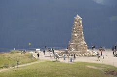 Monumento en la cumbre de Feldberg, Alemania de Bisrmark Imagenes de archivo
