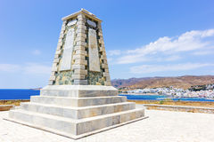 Monumento en la isla de Tinos, Grecia Foto de archivo libre de regalías