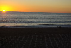 Monumento en la playa de Santa Mónica Imágenes de archivo libres de regalías
