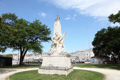 Monumento en La Rochelle, Francia Foto de archivo