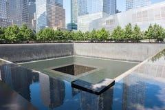 9/11 monumento en Lower Manhattan Foto de archivo