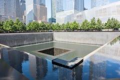 9/11 monumento en Lower Manhattan Imagen de archivo