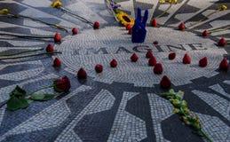 Imagine John Lennon. Monumento en memoria de John Lennon en New York donde se aprecia su mítico tema de ``Imagine Royalty Free Stock Image