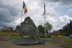 Monumento en memoria de la 82.a división aerotransportada en Werbomont Fotos de archivo libres de regalías