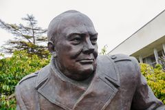 Monumento en memoria de Yalta, Crimea Conferencia imagen de archivo libre de regalías