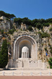 Monumento en Niza, Francia Fotos de archivo