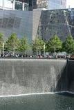 9/11 monumento en Nueva York Imágenes de archivo libres de regalías