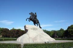 Monumento en St Petersburg Imágenes de archivo libres de regalías