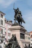 Monumento equestre al vincitore Emmanuel II Immagine Stock