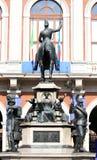 Monumento equestre a Carlo Alberto, Torino, Italia Fotografie Stock Libere da Diritti