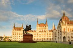Monumento equestre de Ferenc do czi do ³ do kà do ¡ de Rà em Budapest fotos de stock royalty free