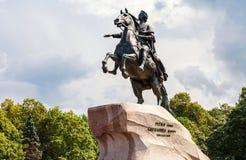 Monumento equestre dell'imperatore russo Peter grande Peter Fi Immagini Stock