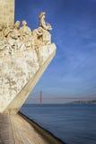 Monumento famoso a Lisbona Fotografie Stock Libere da Diritti