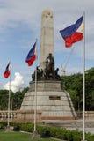 Monumento filipino de Rizal de la señal imagenes de archivo