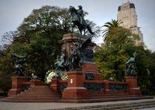 Monumento a general San Martin y los ejércitos de independencia Imagen de archivo libre de regalías