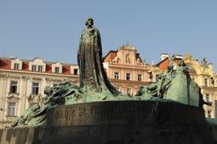 Monumento gennaio di Hus Fotografia Stock Libera da Diritti