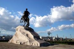 Monumento a gran Peter. Imágenes de archivo libres de regalías