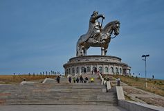 Monumento a grande Gengis Khan immagini stock
