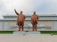 Monumento grande no monte de Mansu em Pyongyang fotografia de stock royalty free