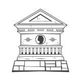 monumento grave della lapide Immagini Stock Libere da Diritti