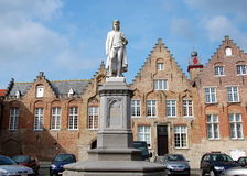 Monumento a Hans Memling Fotografía de archivo libre de regalías