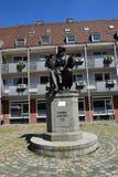 Monumento a Hans Sachs en Nuremberg, Alemania Fotos de archivo