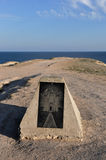 Monumento hermoso en la orilla del Mar Negro en el Tarhanku Fotografía de archivo libre de regalías