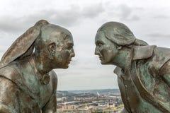 Monumento histórico de Pittsburgh Fotos de Stock Royalty Free