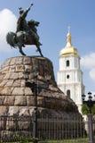 Monumento histórico del Hetman ucraniano famoso Bogdan Khmelnitsky Imagen de archivo