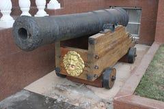 Monumento histórico do canhão foto de stock royalty free