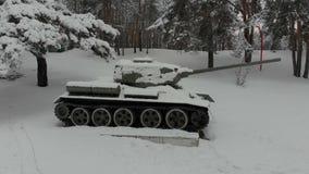 Monumento histórico do tanque T-34 video estoque